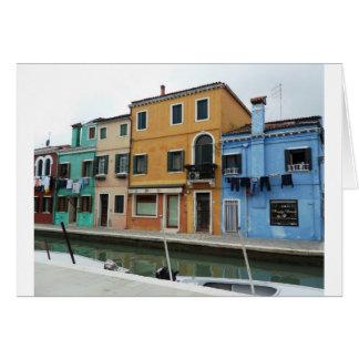 Buranoイタリアのベニス風の礁湖の洗濯 カード