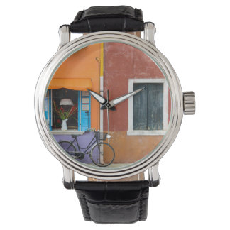 Buranoイタリアの建物 腕時計
