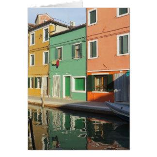 Burano、イタリアの反射 カード
