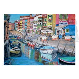 Burano、イタリア-カード カード