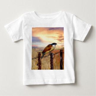 BurchellのCoucalのかっこうの鳥 ベビーTシャツ
