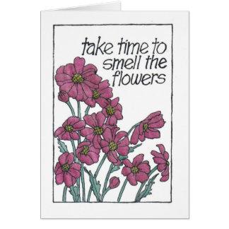 Burgandyの臭い花 カード