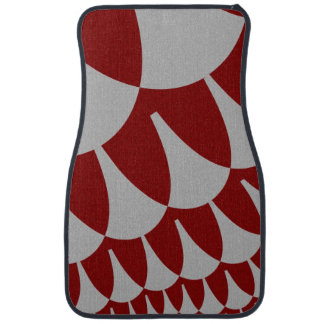 Burgundy Silver Scales Car Mats カーマット