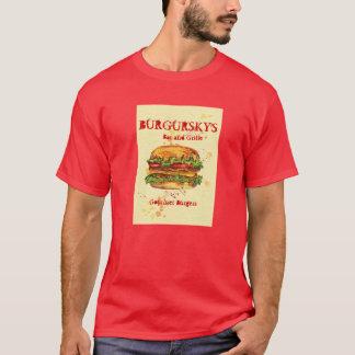 BURGURSKYのグルメ向きのハンバーガー Tシャツ