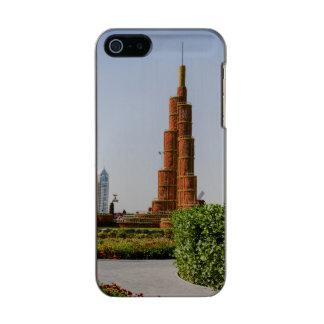 Burj Khalifaのドバイの奇跡の庭 メタリックiPhone SE/5/5sケース