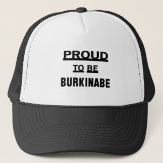 Burkinabeがあること誇りを持った キャップ