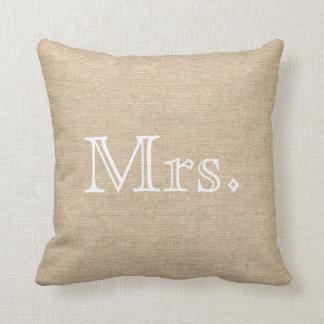 Burlap Pillow氏及び夫人 クッション