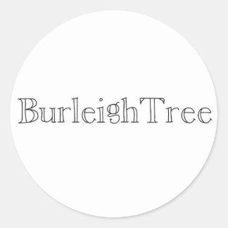 BurleighTreeの店のステッカー ラウンドシール