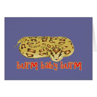 """Burmのベビー、Burm""の火のビルマ人の大蛇 カード"
