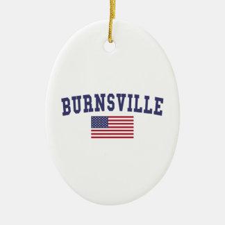 Burnsville米国の旗 セラミックオーナメント
