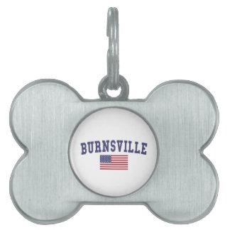 Burnsville米国の旗 ペットネームタグ