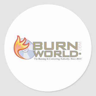 BurnWorld.com DVD及び青い光線の焼却 ラウンドシール