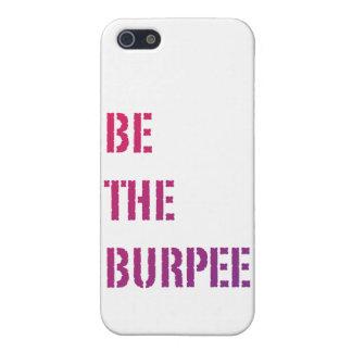 Burpeeのピンクおよび紫色の勾配のiPhoneの箱があって下さい iPhone 5 Cover