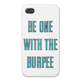 Burpeeの水の青いエッチングされたiPhone Casとの1があって下さい iPhone 4 Case