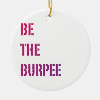 Burpee -ピンクの紫色の勾配--があって下さい 陶器製丸型オーナメント