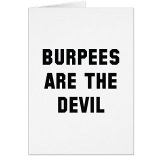 Burpeesは悪魔です カード