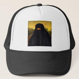 Burqaの後ろに隠れるモナ・リザ キャップ