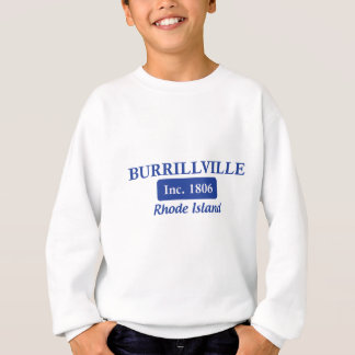 Burrillville青いロードアイランドのティー スウェットシャツ