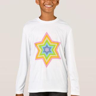 Burst™の女の子のスポーツTekのLongsleeveの淡い色のなティー Tシャツ