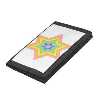 Burst™の淡い色のな三つ折り財布 ナイロン三つ折りウォレット