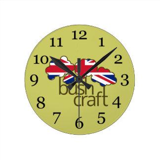 Bushcraftイギリスの旗 ラウンド壁時計