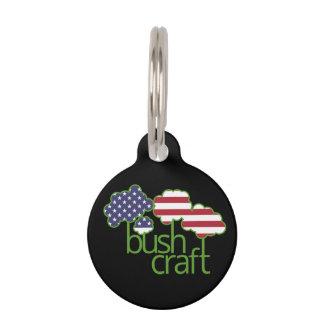 Bushcraft米国の旗 ペット ネームタグ