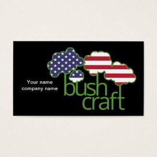 Bushcraft米国の旗 名刺