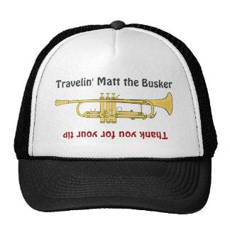 Buskerのミュージシャンのトランペットの先端の瓶の帽子 キャップ