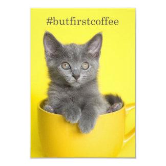 #butfirstcoffeeの灰色の子ネコのコップNotecard カード