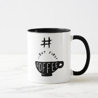 #ButFirstCoffeeのhashtagのコーヒー・マグ マグカップ