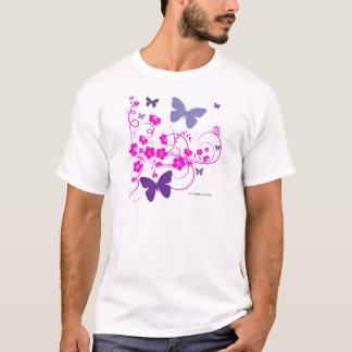 butterfliersおよび花 tシャツ
