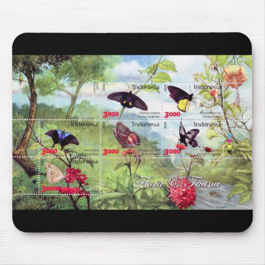 Butterflies 2016 stampsheet of Indonesia マウスパッド