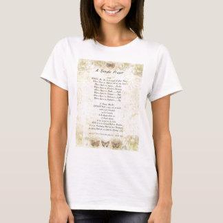 butterflies=popeのfrancis=のSt Francisのシンプルの祈りの言葉 Tシャツ