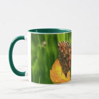 Butterfly色彩の鮮やかな女性 マグカップ