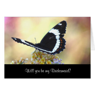 Butterfly Bridesmaid Notecard海軍大将 ノートカード