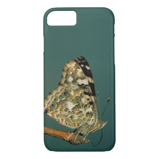 Butterfly Close-up色彩の鮮やかな女性 iPhone 8/7ケース