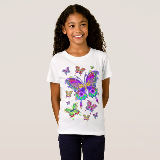 Butterfly Colorful Tattoo Style Tシャツ