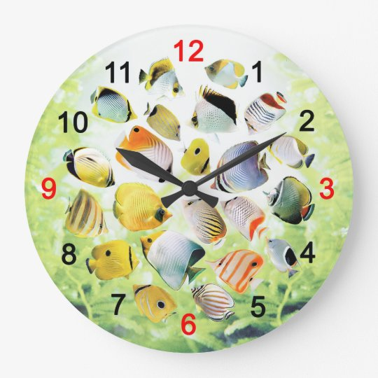 Butterfly Fishの壁掛け時計 ラージ壁時計