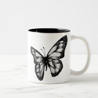 butterfly.gif 400389のピクセル ツートーンマグカップ