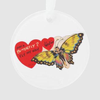 Butterfly Heartsヴィンテージのバレンタインの女性 オーナメント