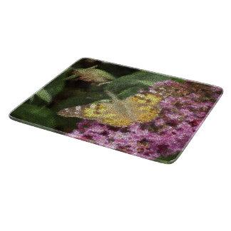 Butterfly Mosaic色彩の鮮やかな女性 カッティングボード