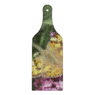 Butterfly Mosaic Paddle色彩の鮮やかな女性 カッティングボード