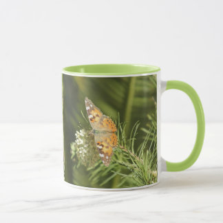 Butterfly Mug色彩の鮮やかな女性 マグカップ
