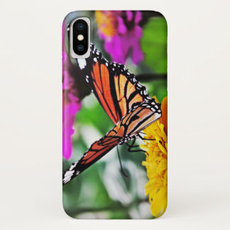 Butterfly on Flowers iPhone X ケース