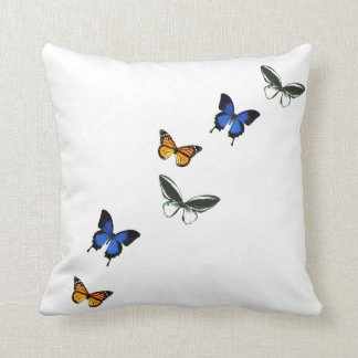 Butterfly Pattern Decorative Pillow クッション