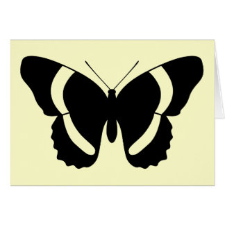 Butterfly Symbol Customizable Blank黒い海軍大将 カード