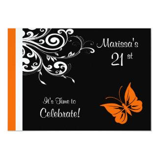 Butterlyのオレンジ渦巻 カード