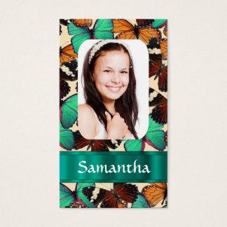 Butterlyのコラージュの写真テンプレート 名刺