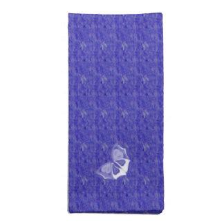 Butterlyの紫色のダンス ナプキンクロス