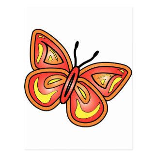 butterlyグラフィック ポストカード